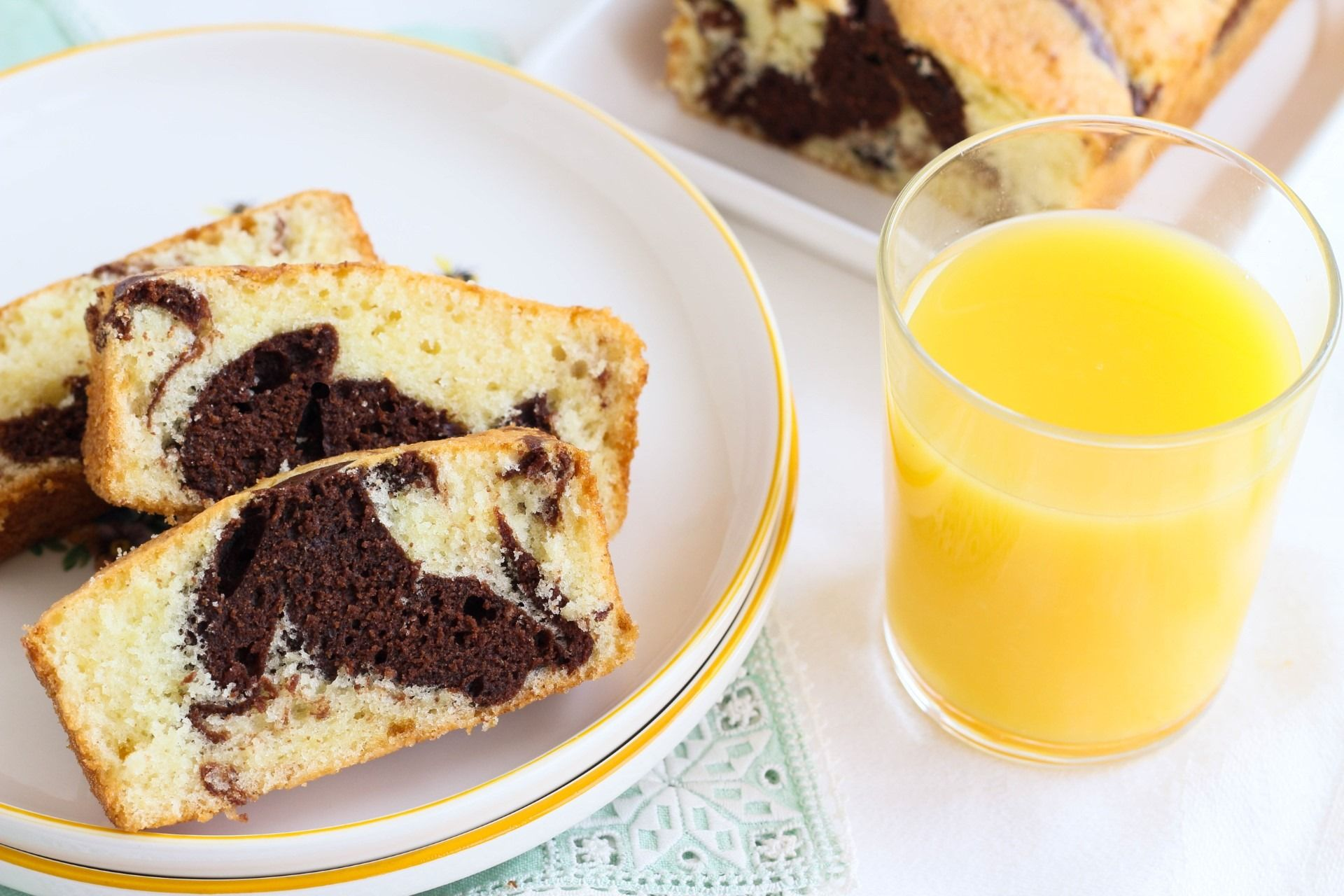 עוגת תפוזים-שוקולד משושית
