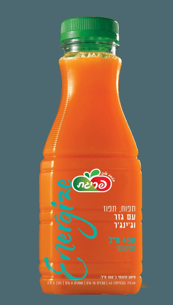 משקה בטעם תפוח, תפוז עם גזר וג'ינג'ר